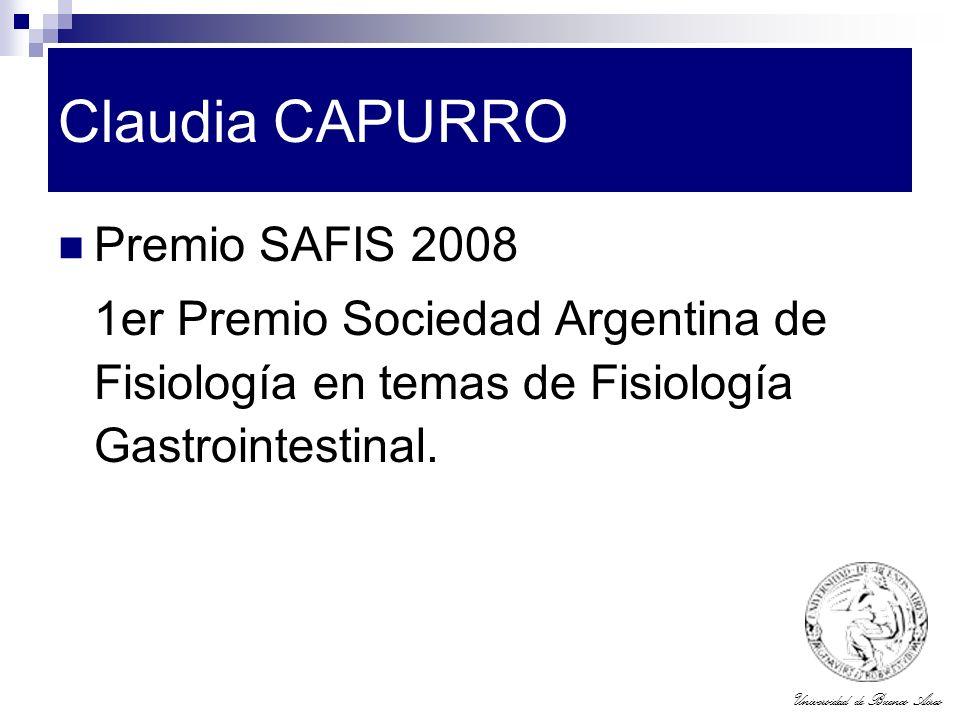Claudia CAPURRO Premio SAFIS 2008