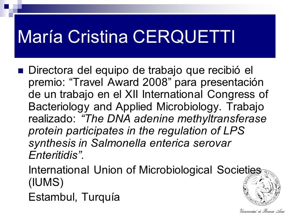María Cristina CERQUETTI