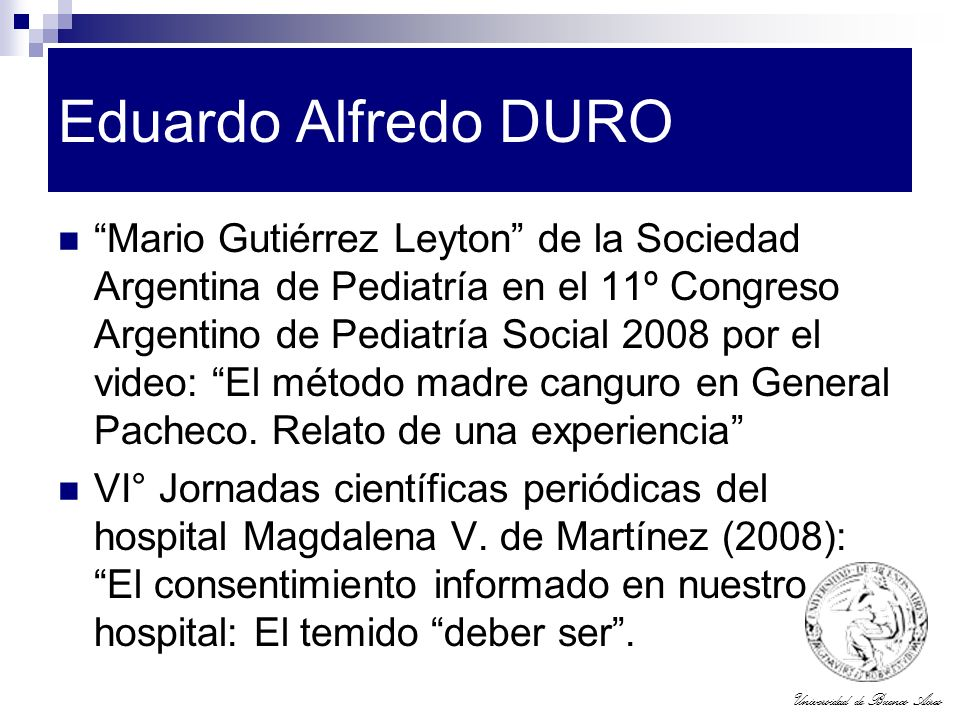 Eduardo Alfredo DURO
