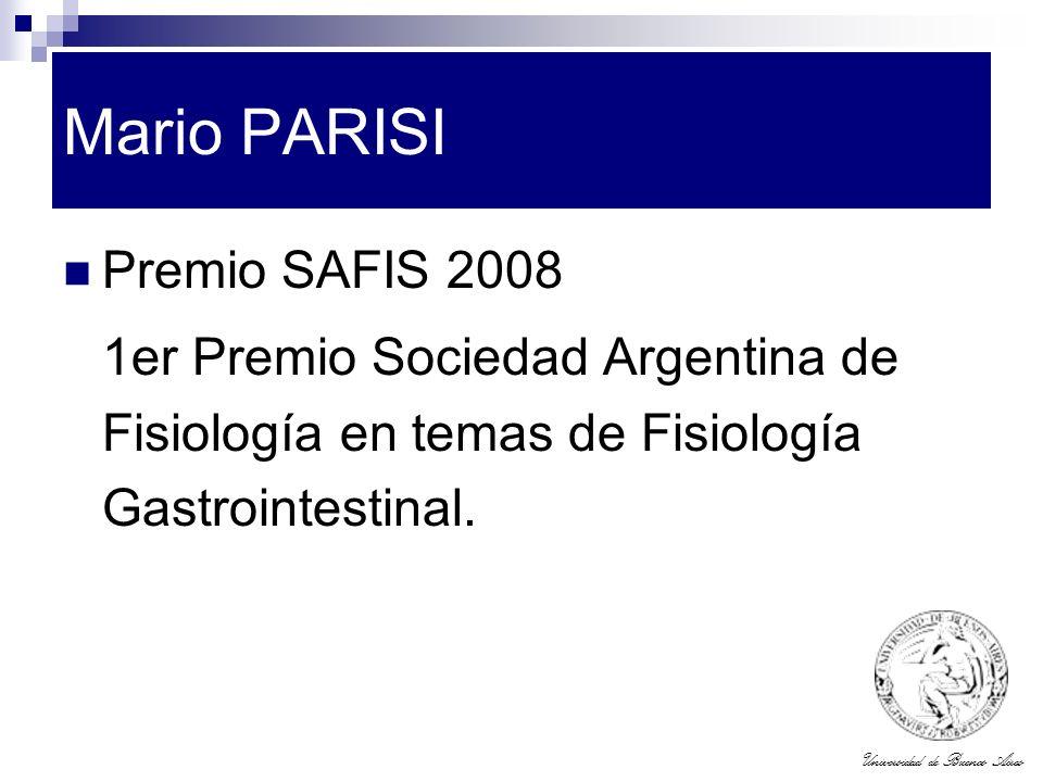 Mario PARISI Premio SAFIS 2008