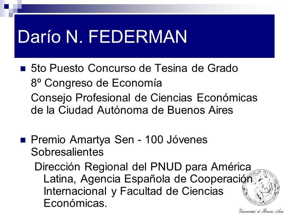 Darío N. FEDERMAN 5to Puesto Concurso de Tesina de Grado
