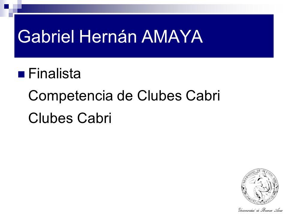 Gabriel Hernán AMAYA Finalista Competencia de Clubes Cabri