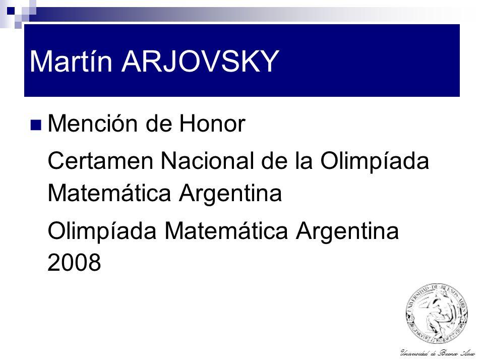 Martín ARJOVSKY Mención de Honor