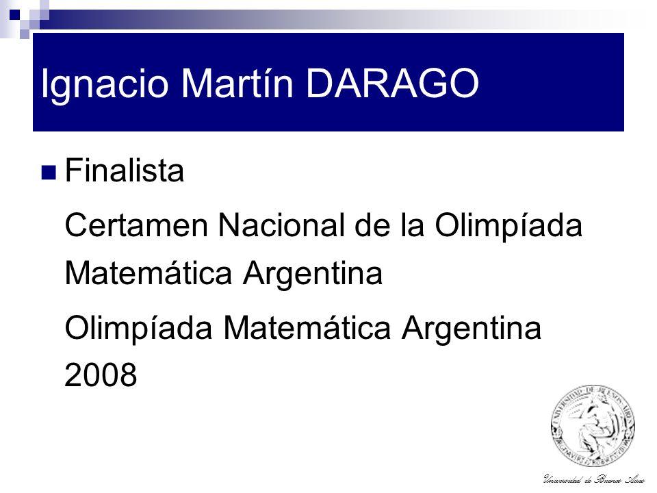 Ignacio Martín DARAGO Finalista