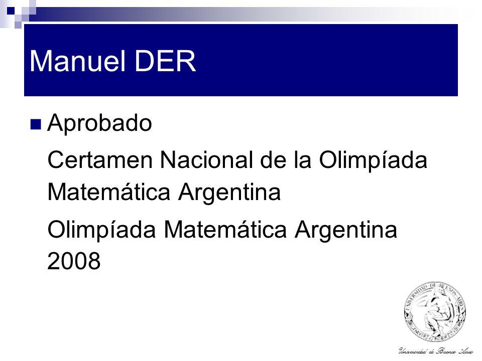 Manuel DER Aprobado. Certamen Nacional de la Olimpíada Matemática Argentina.