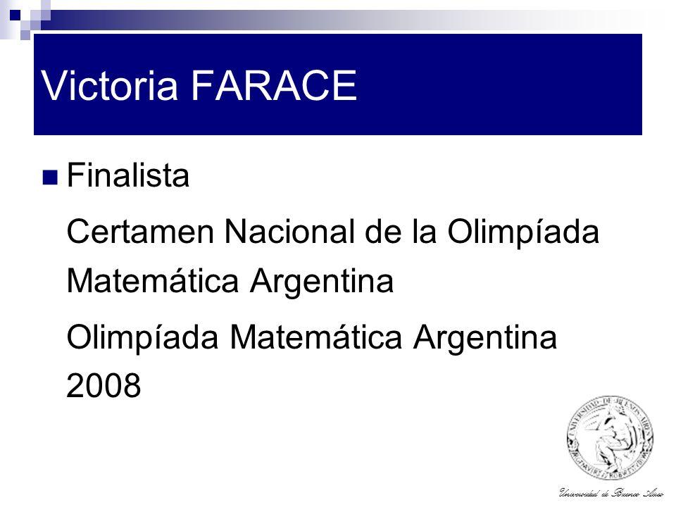 Victoria FARACE Finalista