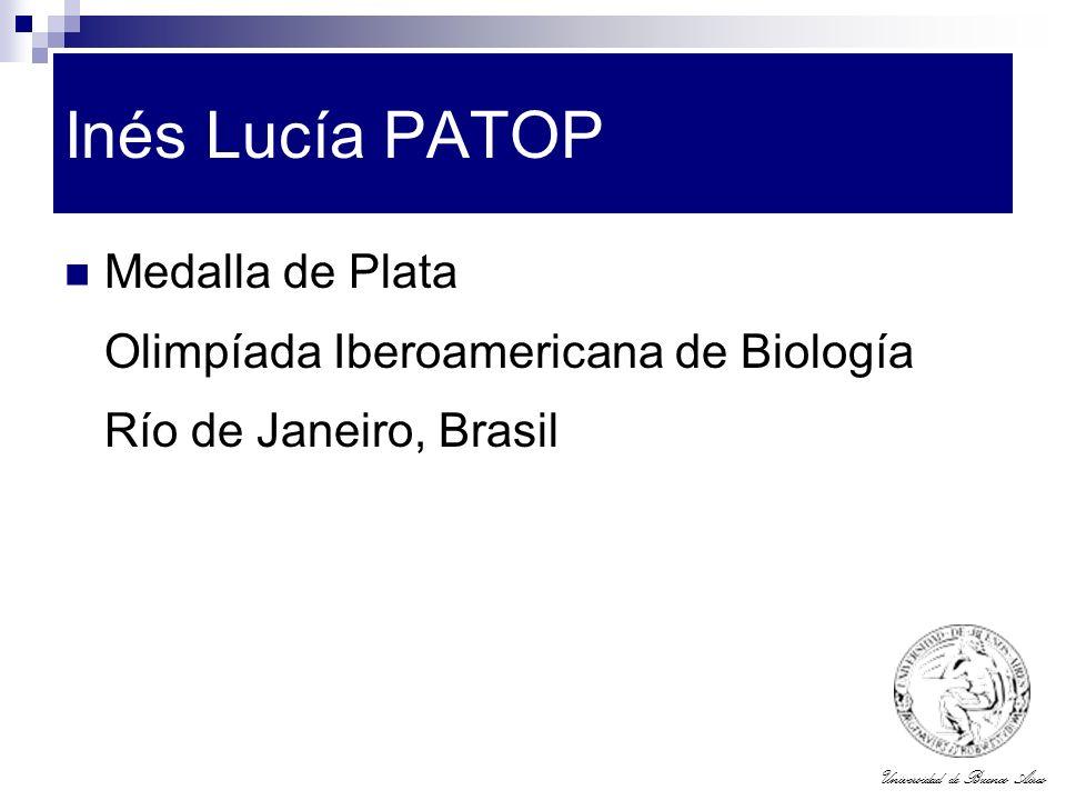 Inés Lucía PATOP Medalla de Plata Olimpíada Iberoamericana de Biología