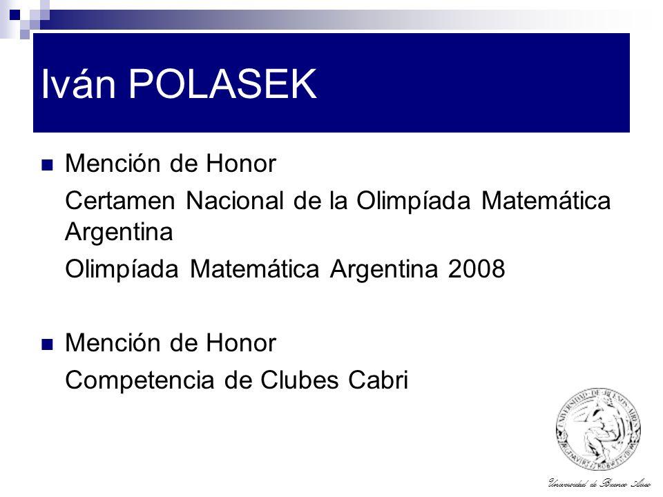 Iván POLASEK Mención de Honor