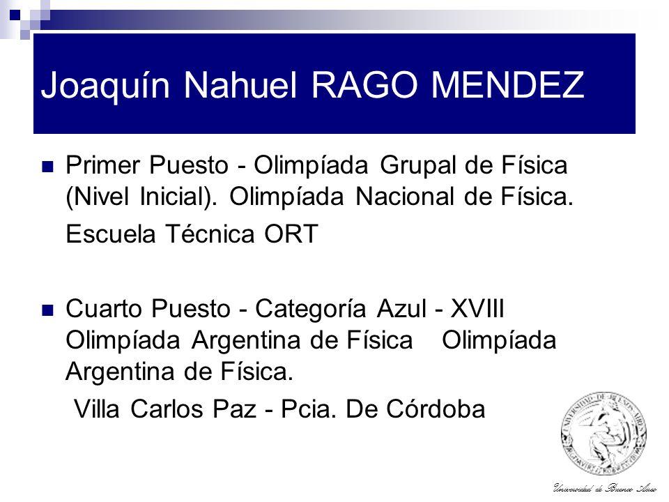 Joaquín Nahuel RAGO MENDEZ