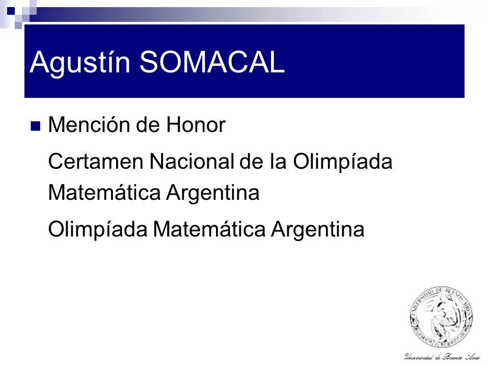 Agustín SOMACAL Mención de Honor