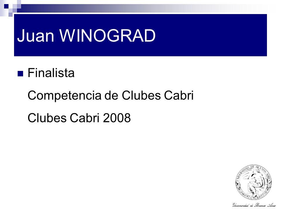 Juan WINOGRAD Finalista Competencia de Clubes Cabri Clubes Cabri 2008