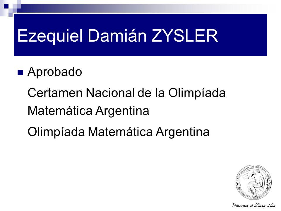 Ezequiel Damián ZYSLER