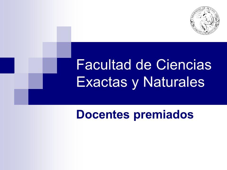Facultad de Ciencias Exactas y Naturales