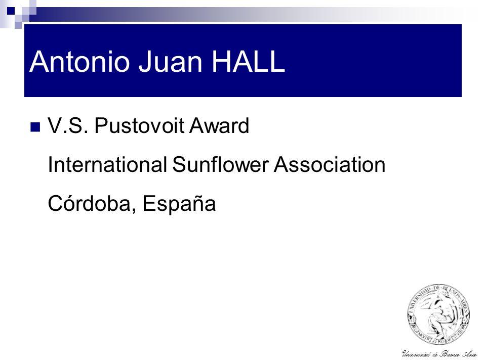 Antonio Juan HALL V.S. Pustovoit Award