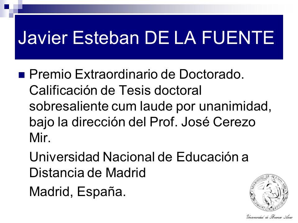 Javier Esteban DE LA FUENTE