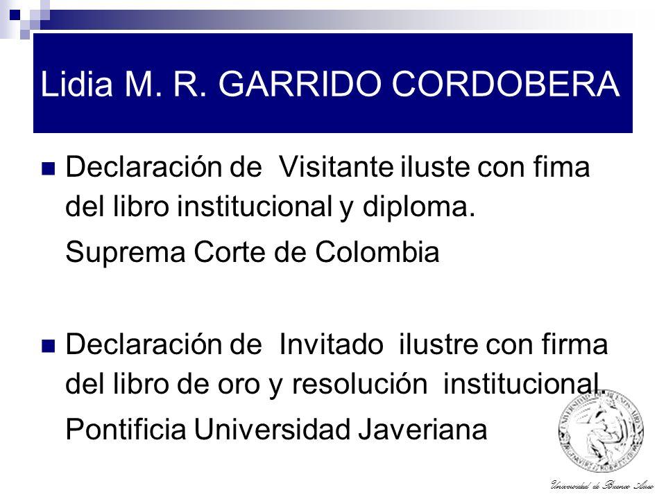 Lidia M. R. GARRIDO CORDOBERA