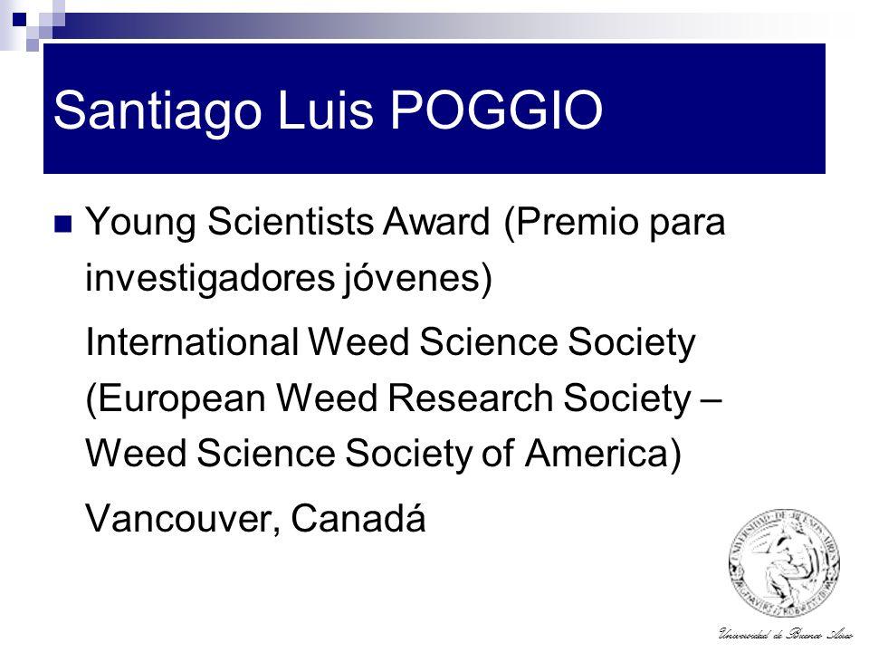 Santiago Luis POGGIO Young Scientists Award (Premio para investigadores jóvenes)