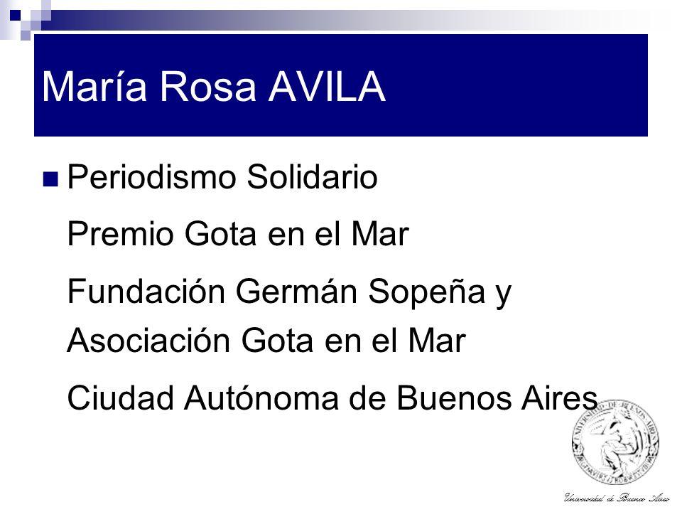 María Rosa AVILA Periodismo Solidario Premio Gota en el Mar