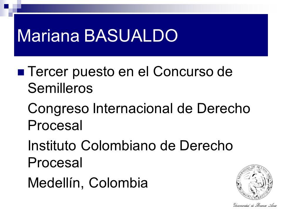 Mariana BASUALDO Tercer puesto en el Concurso de Semilleros