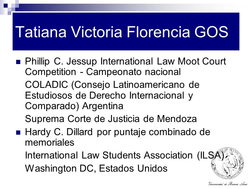 Tatiana Victoria Florencia GOS