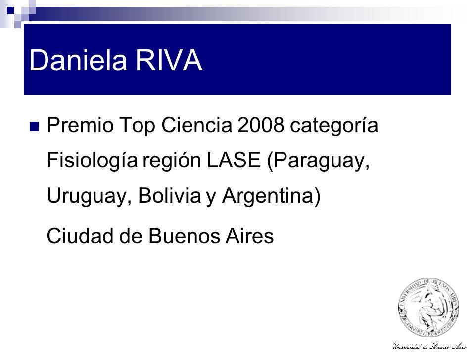 Daniela RIVA Premio Top Ciencia 2008 categoría Fisiología región LASE (Paraguay, Uruguay, Bolivia y Argentina)