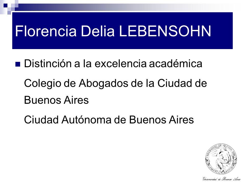 Florencia Delia LEBENSOHN