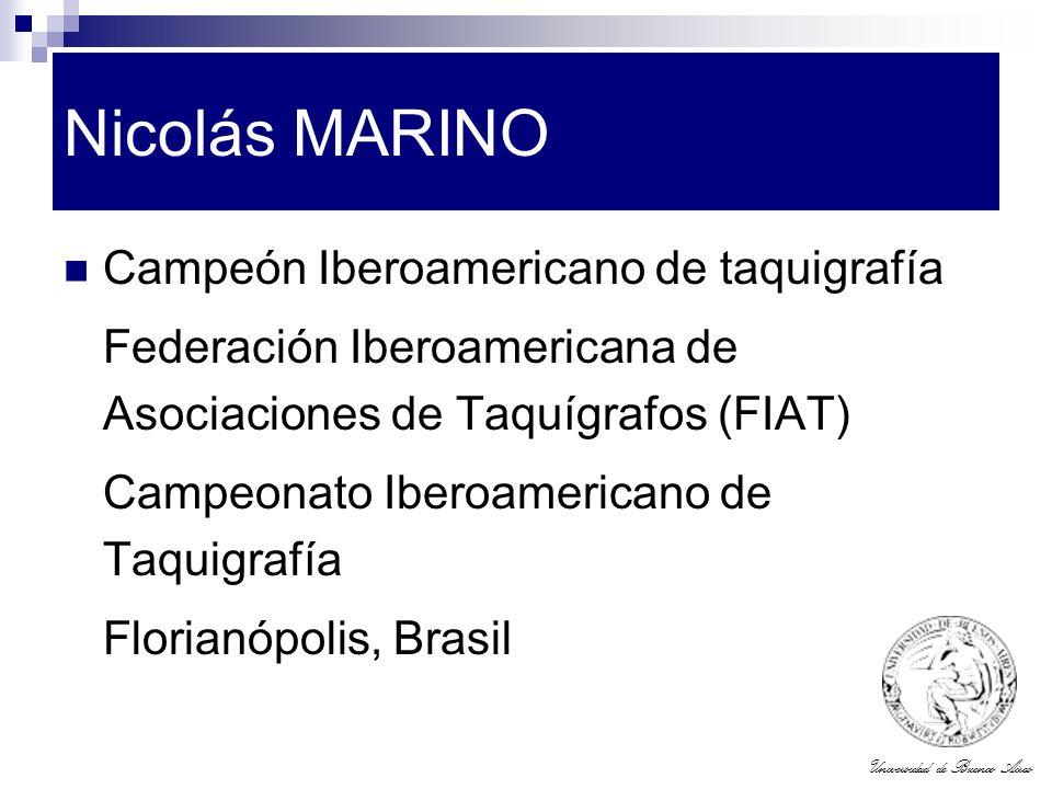 Nicolás MARINO Campeón Iberoamericano de taquigrafía