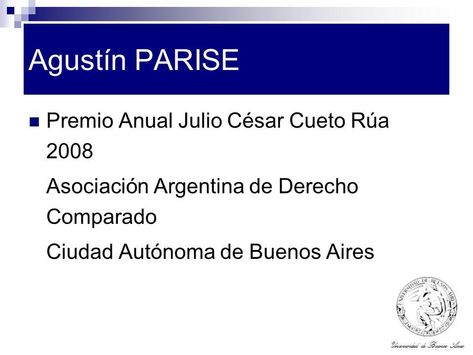 Agustín PARISE Premio Anual Julio César Cueto Rúa 2008