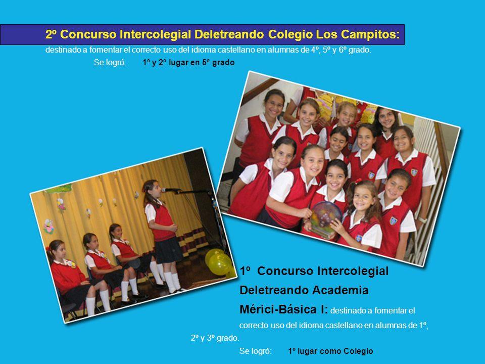 2º Concurso Intercolegial Deletreando Colegio Los Campitos: