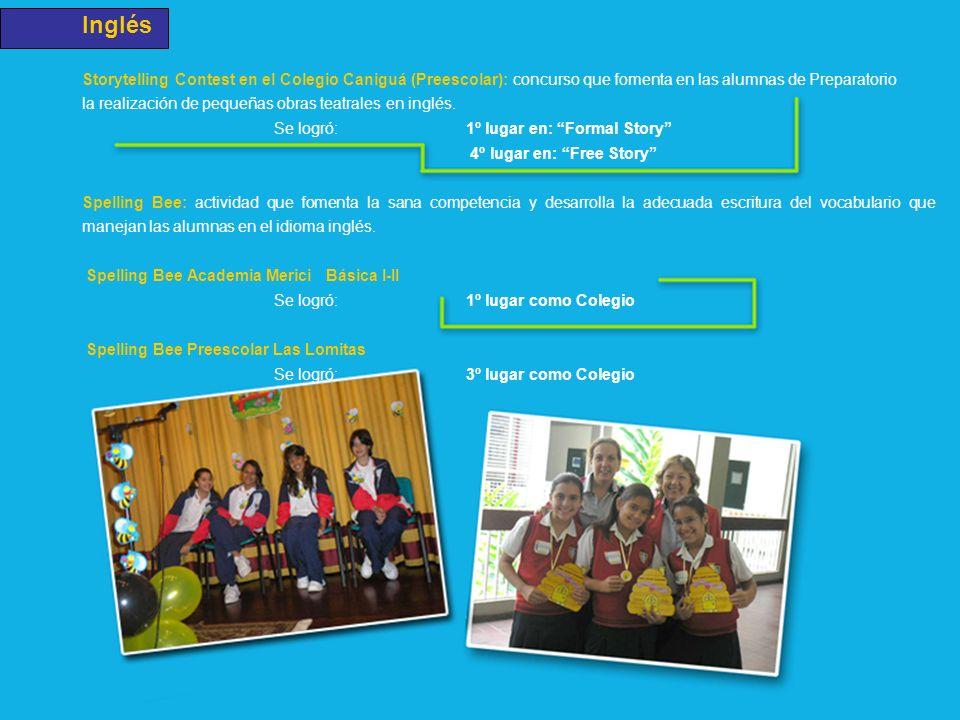 Inglés Storytelling Contest en el Colegio Caniguá (Preescolar): concurso que fomenta en las alumnas de Preparatorio.