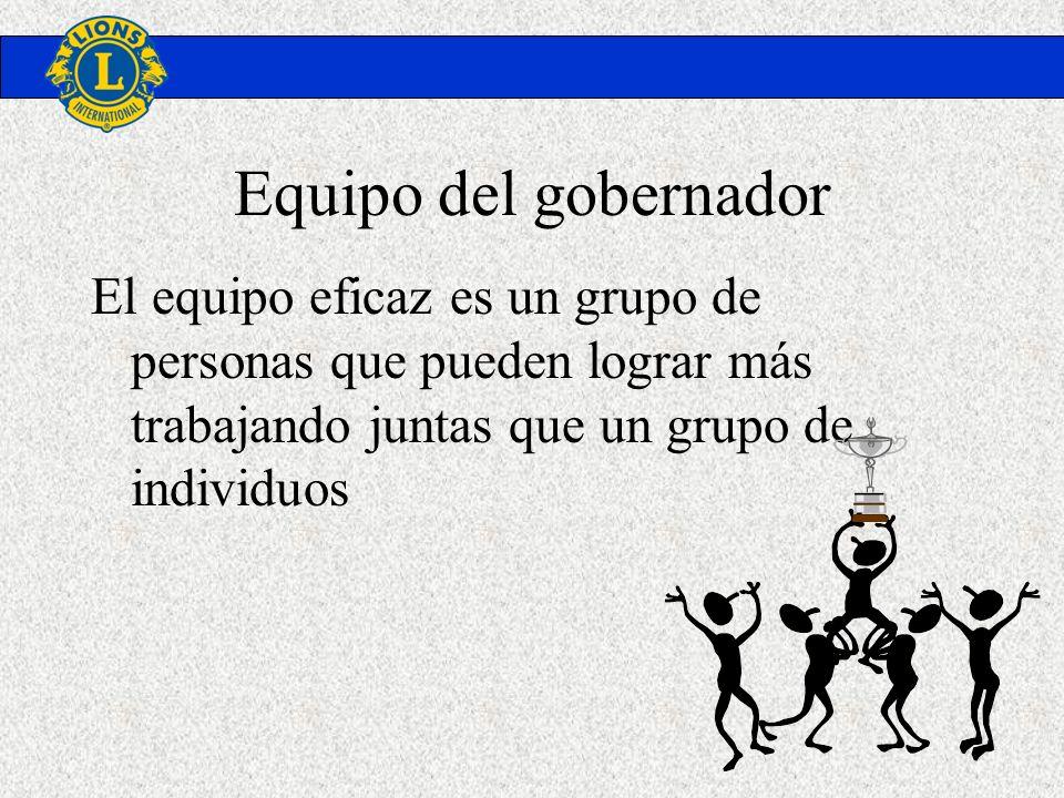 Equipo del gobernador El equipo eficaz es un grupo de personas que pueden lograr más trabajando juntas que un grupo de individuos.