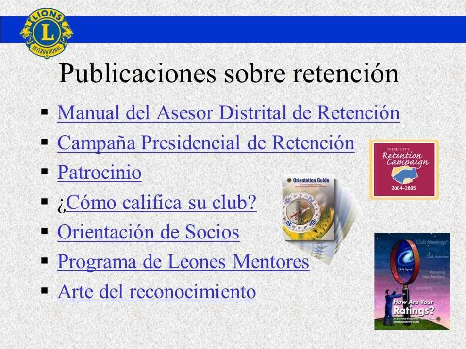 Publicaciones sobre retención