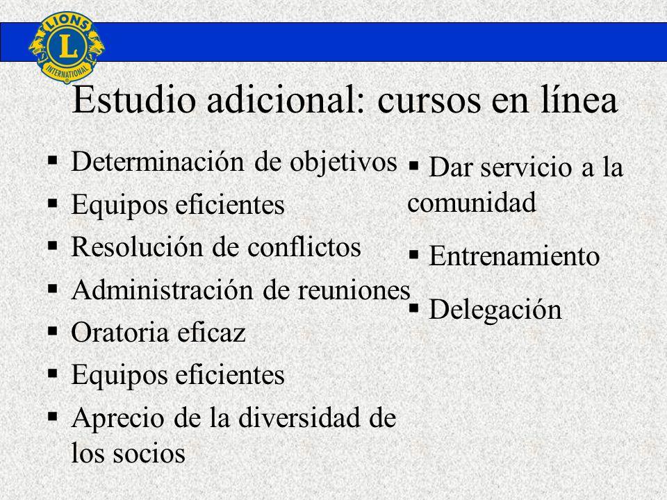 Estudio adicional: cursos en línea