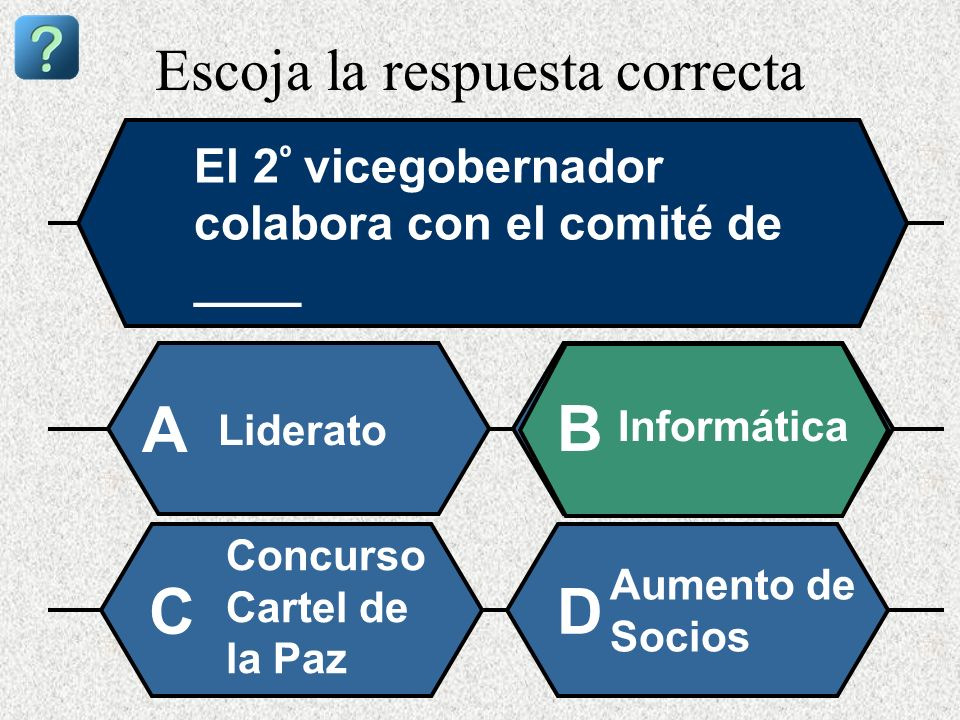 Escoja la respuesta correcta