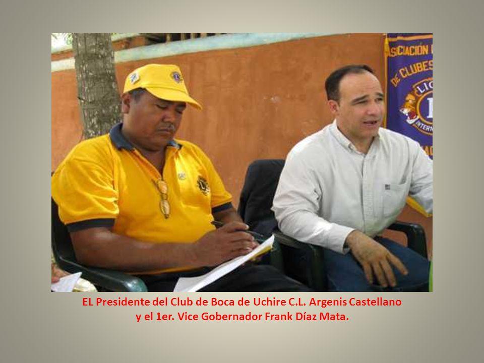 EL Presidente del Club de Boca de Uchire C.L. Argenis Castellano