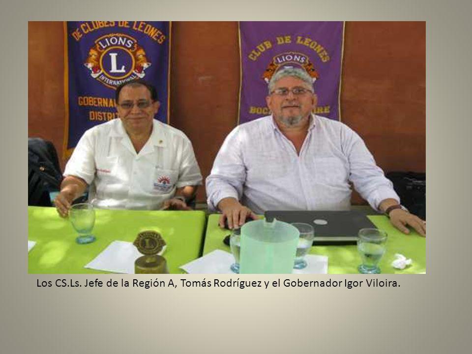 Los CS.Ls. Jefe de la Región A, Tomás Rodríguez y el Gobernador Igor Viloira.