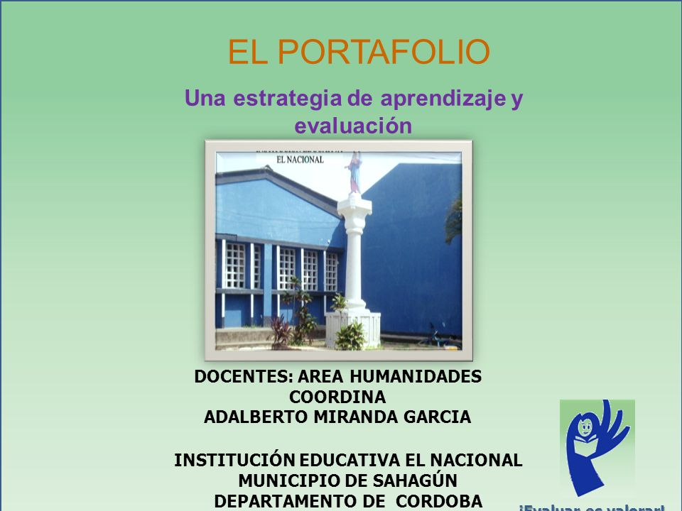 EL PORTAFOLIO Una estrategia de aprendizaje y evaluación