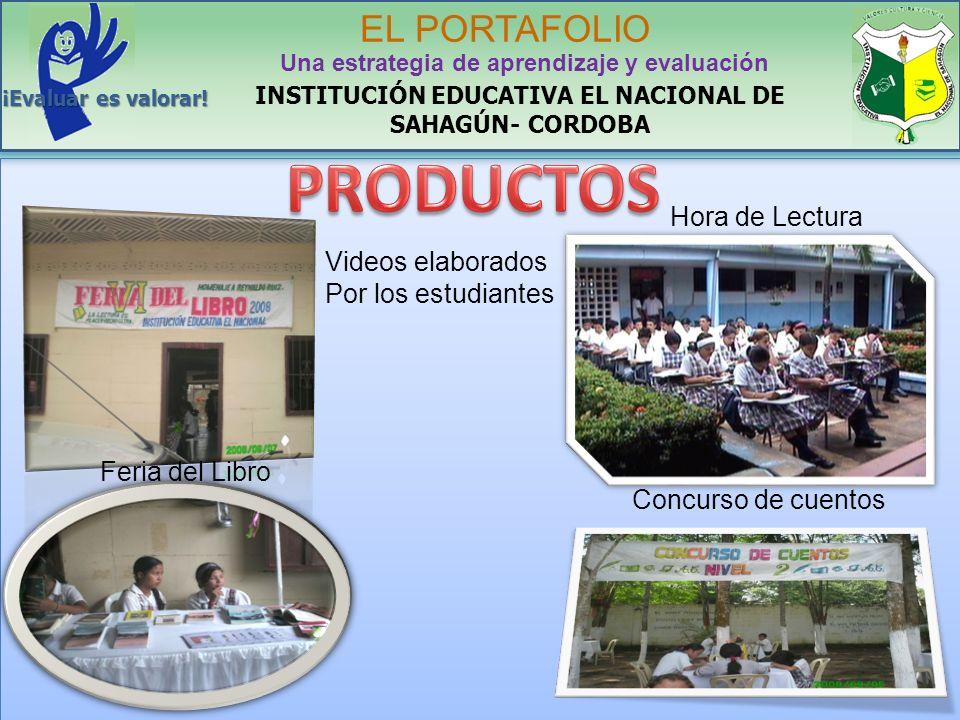 PRODUCTOS EL PORTAFOLIO Hora de Lectura Videos elaborados