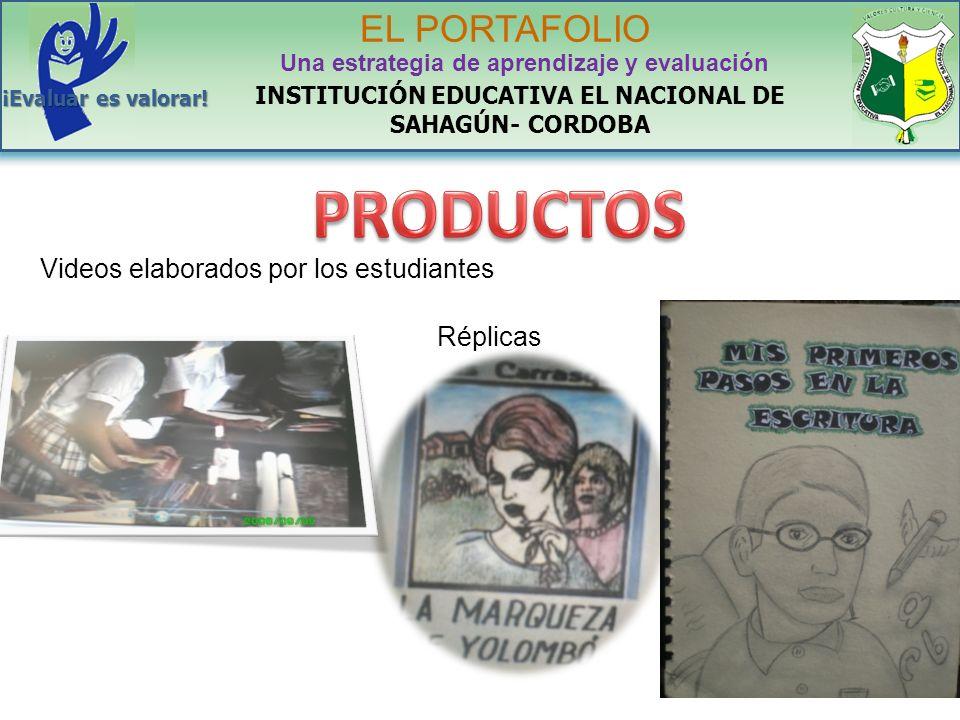 PRODUCTOS EL PORTAFOLIO Videos elaborados por los estudiantes Réplicas