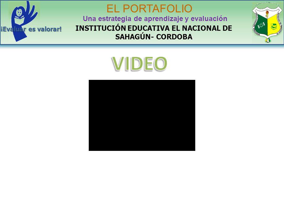 VIDEO EL PORTAFOLIO Una estrategia de aprendizaje y evaluación