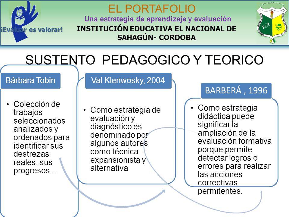 SUSTENTO PEDAGOGICO Y TEORICO
