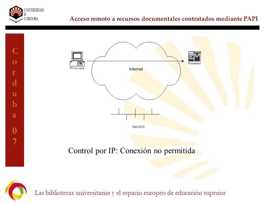 Control por IP: Conexión no permitida