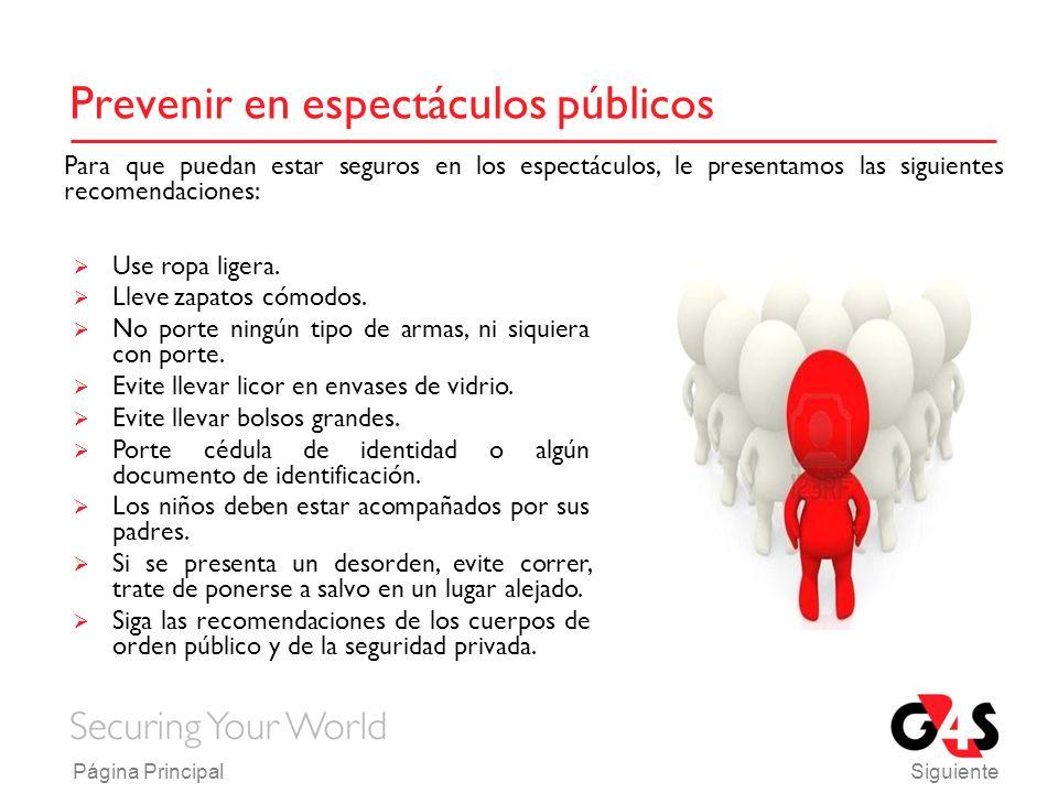 Prevenir en espectáculos públicos