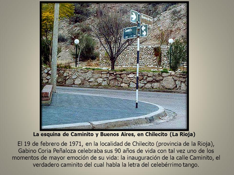 La esquina de Caminito y Buenos Aires, en Chilecito (La Rioja)