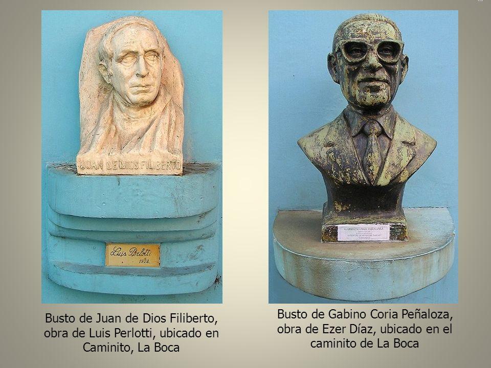Busto de Gabino Coria Peñaloza, obra de Ezer Díaz, ubicado en el caminito de La Boca