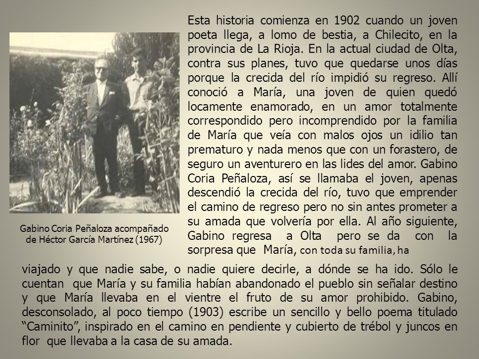 Gabino Coria Peñaloza acompañado de Héctor García Martínez (1967)