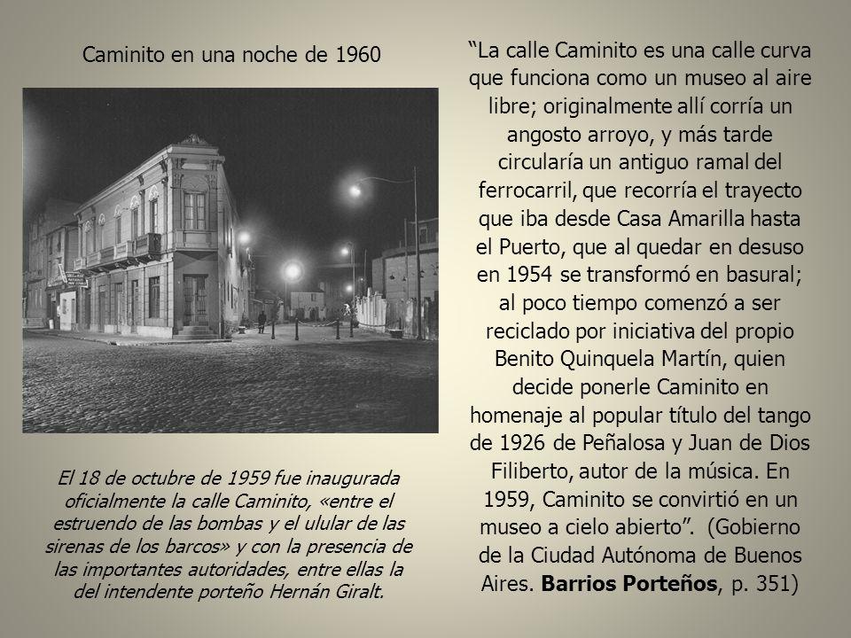 Caminito en una noche de 1960