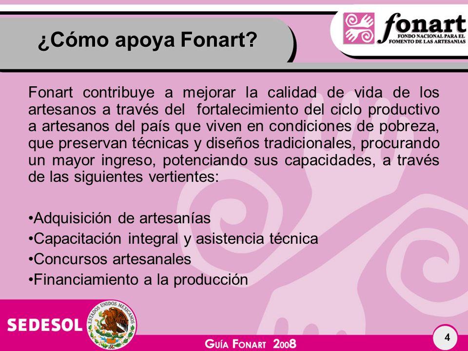 ¿Cómo apoya Fonart