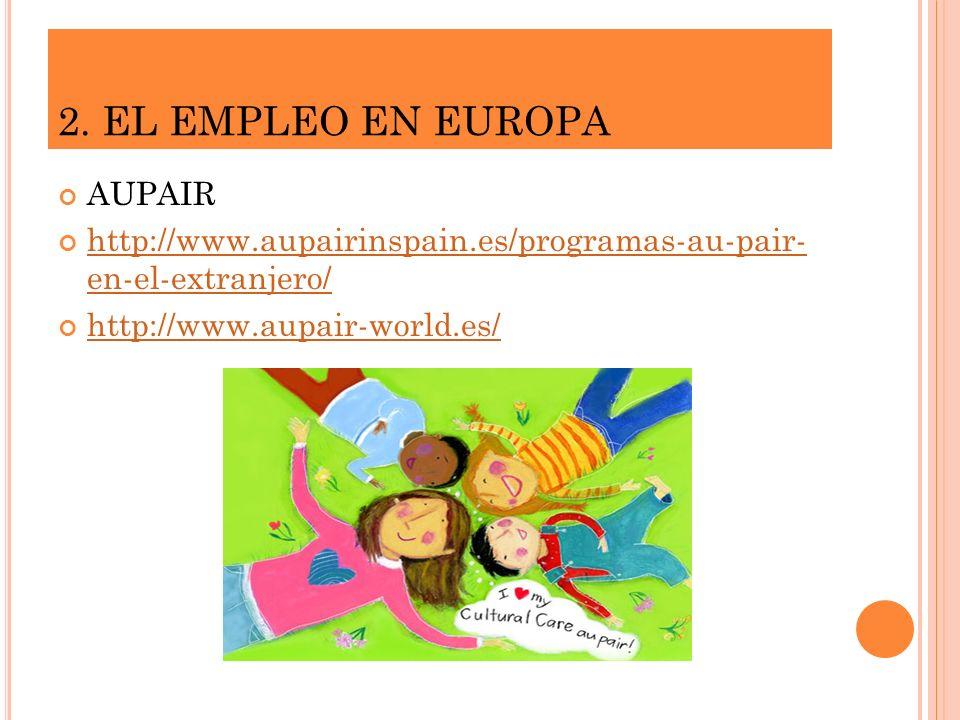 2. EL EMPLEO EN EUROPA AUPAIR