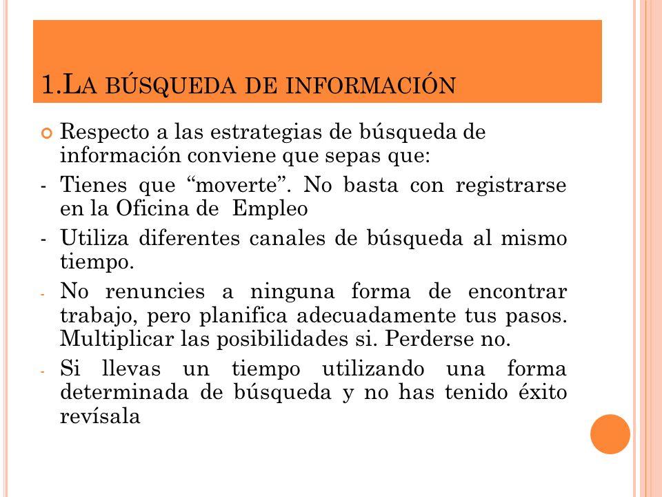1.La búsqueda de información